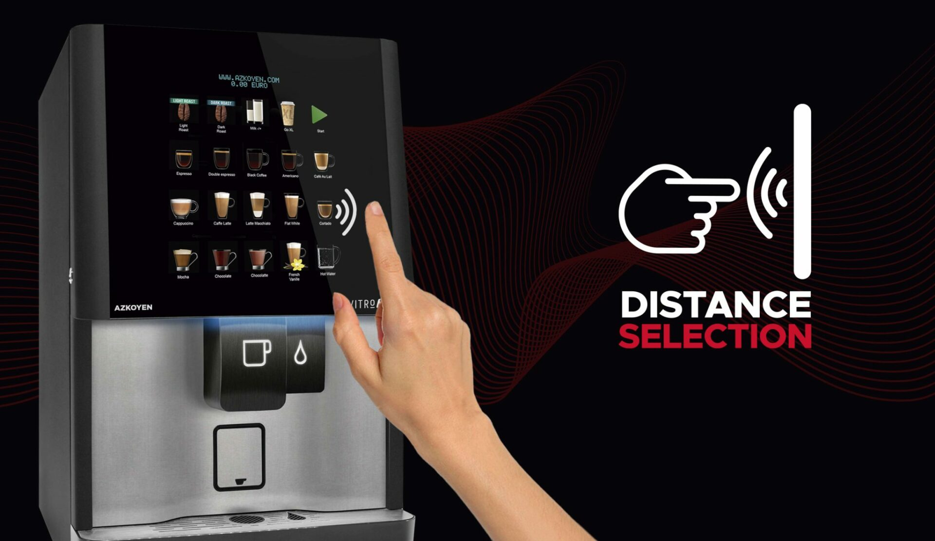 distance selection coffee machines